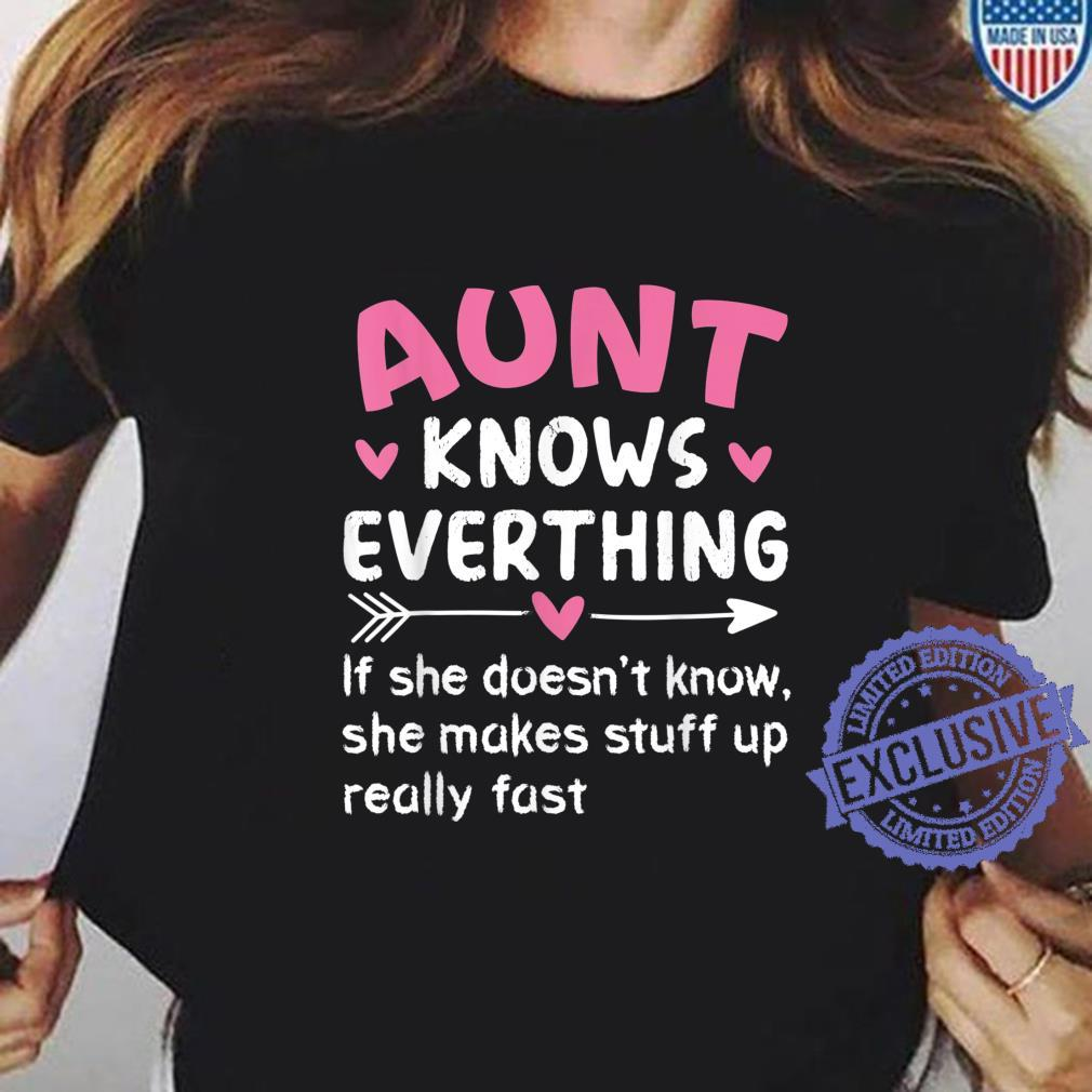 Aunt Knows Everything Vintage Mother's Day Auntie Shirt ladies tee