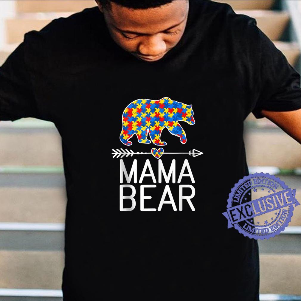 Autism Awareness Mama Bear Mom Shirt