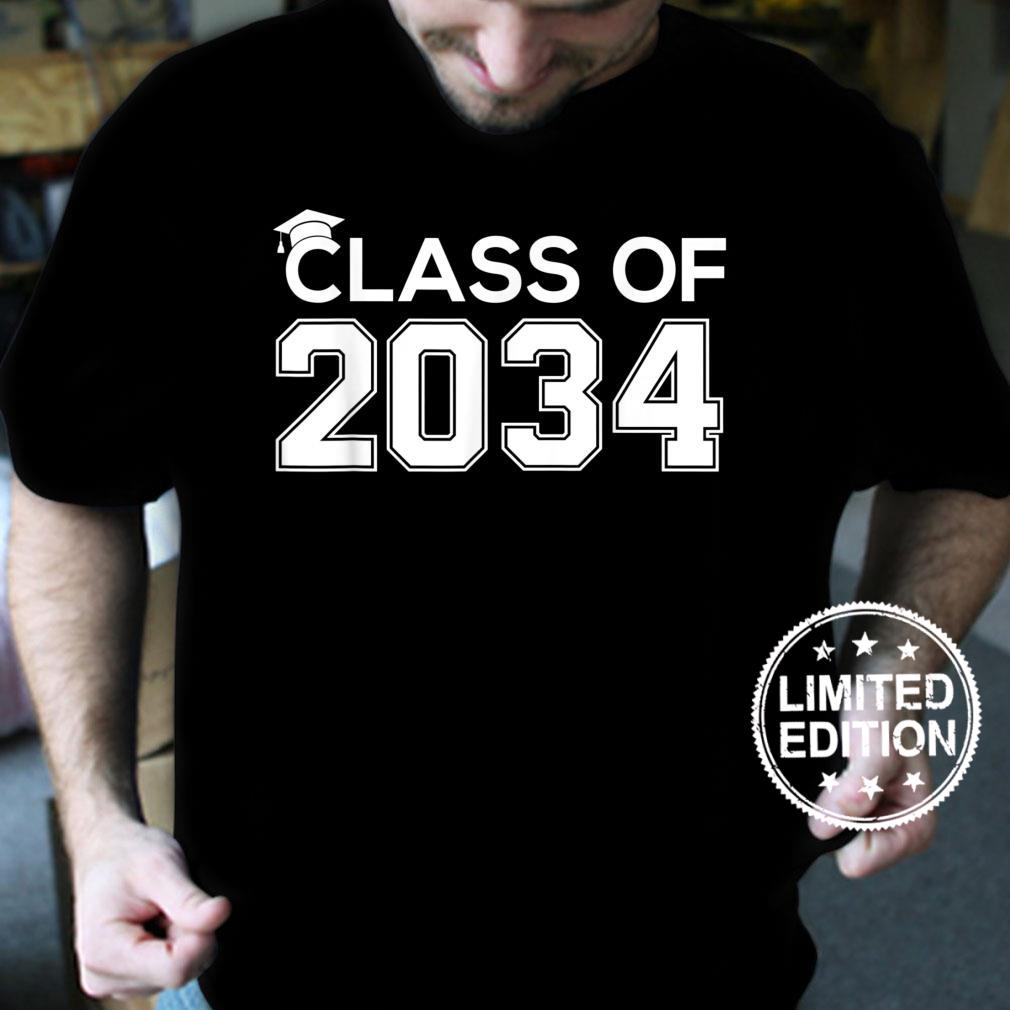 Class Of 2034 Grow With Me Handprint On Back K12 Boy Girl Shirt