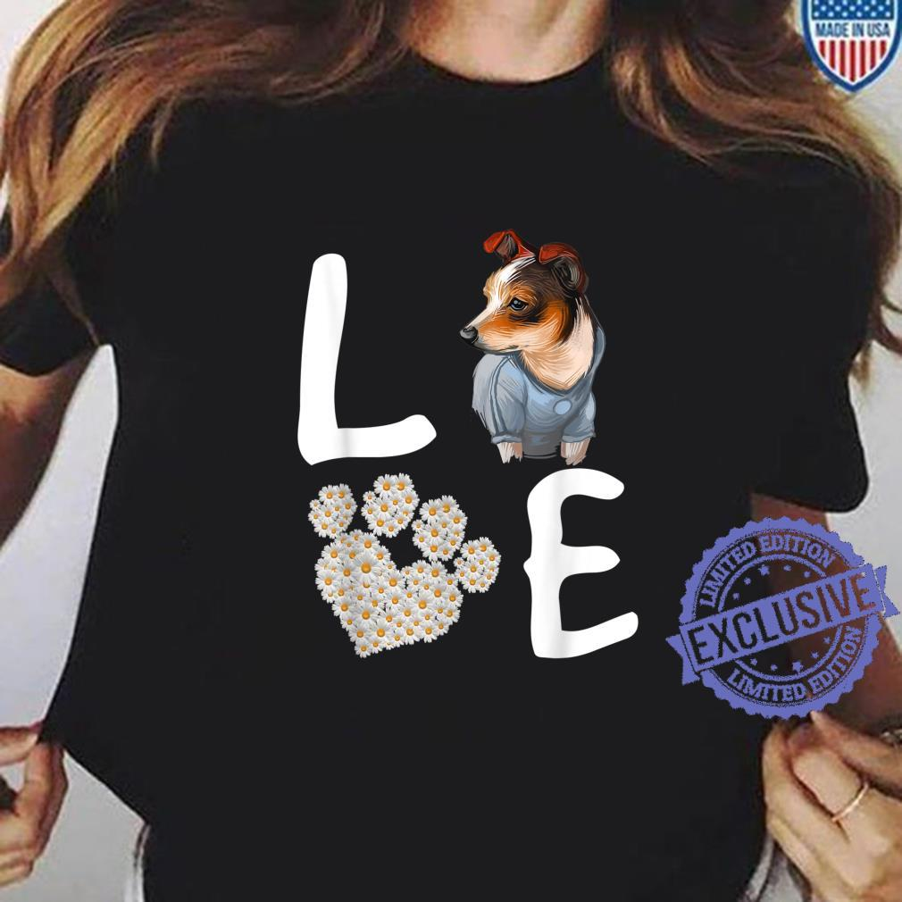Dogs 365 Love RatTerrier Dog Paw Pet Rescue Shirt ladies tee