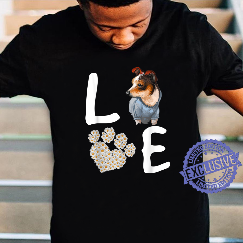 Dogs 365 Love RatTerrier Dog Paw Pet Rescue Shirt