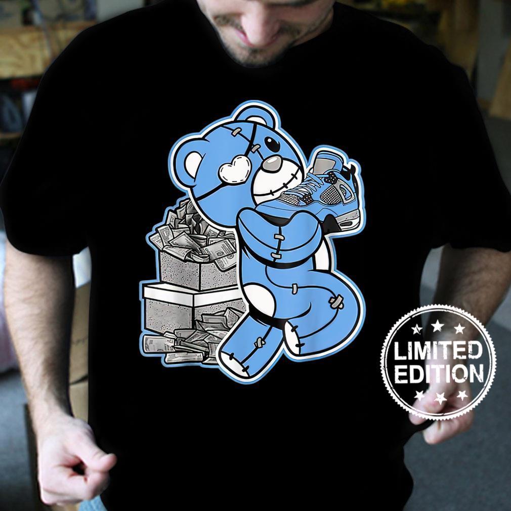 G.raphic Match Jordan 4 University Blue Shirt