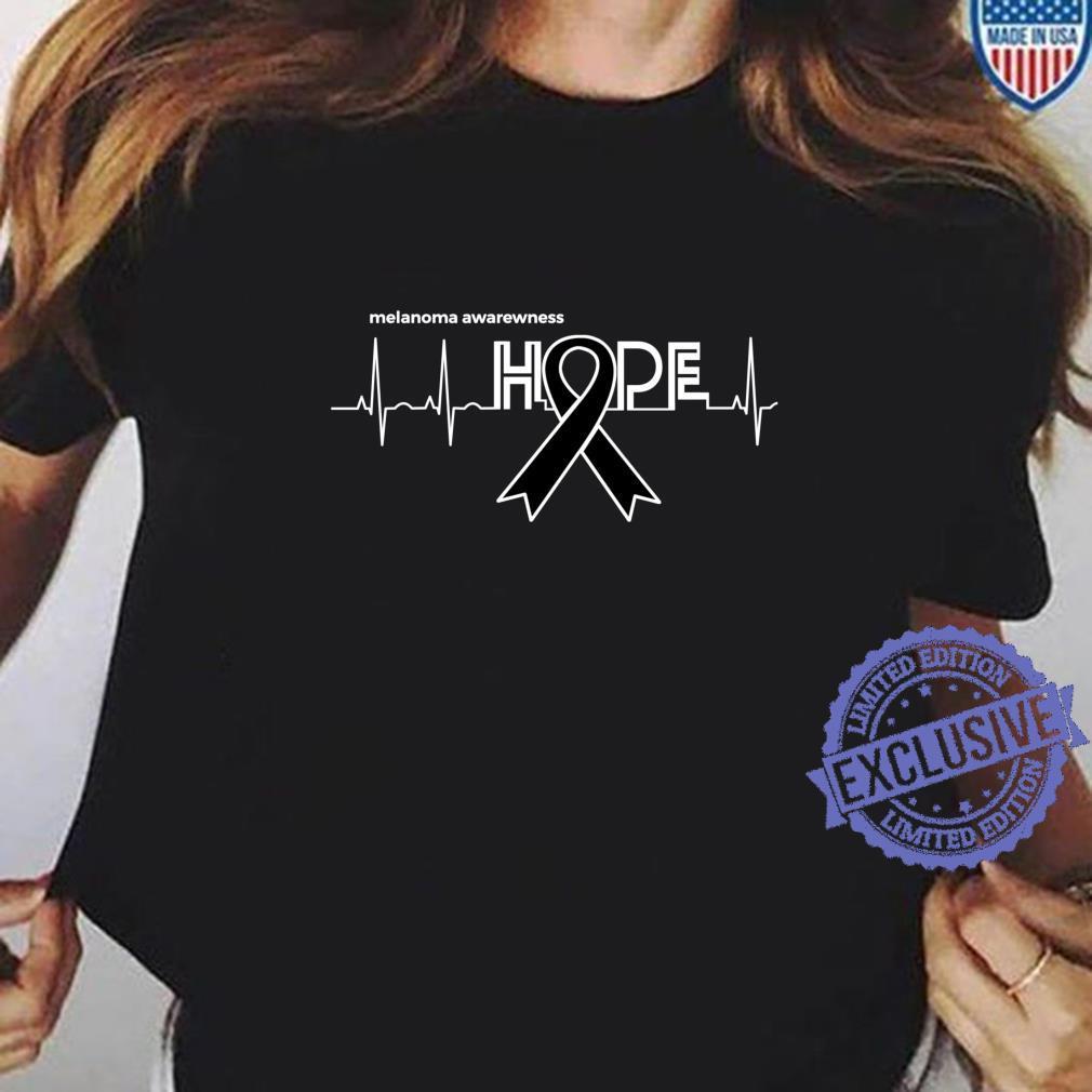 HOPE Melanoma Month Products Ribbon Skin Cancer Awareness Shirt ladies tee