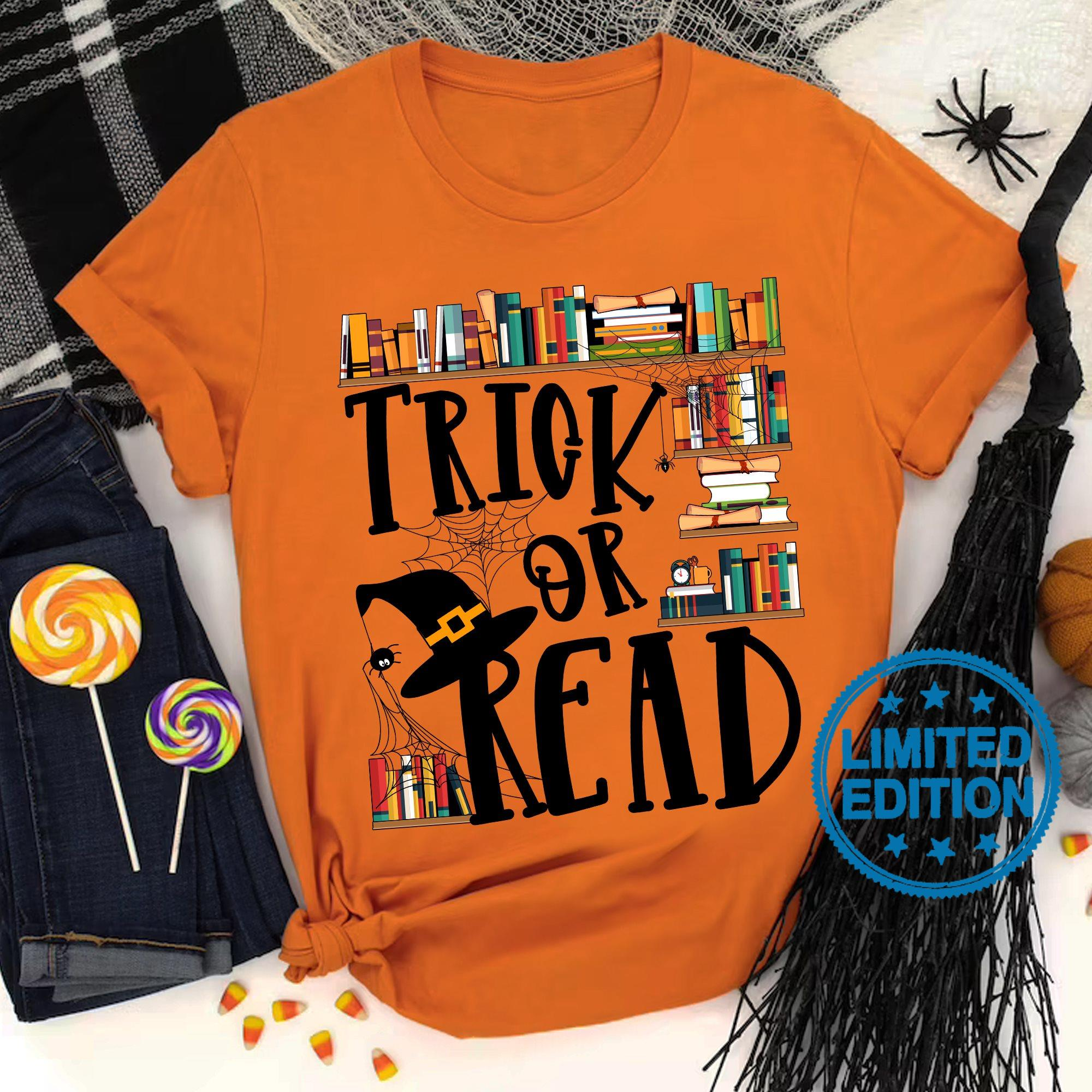 Trick or read book shirt