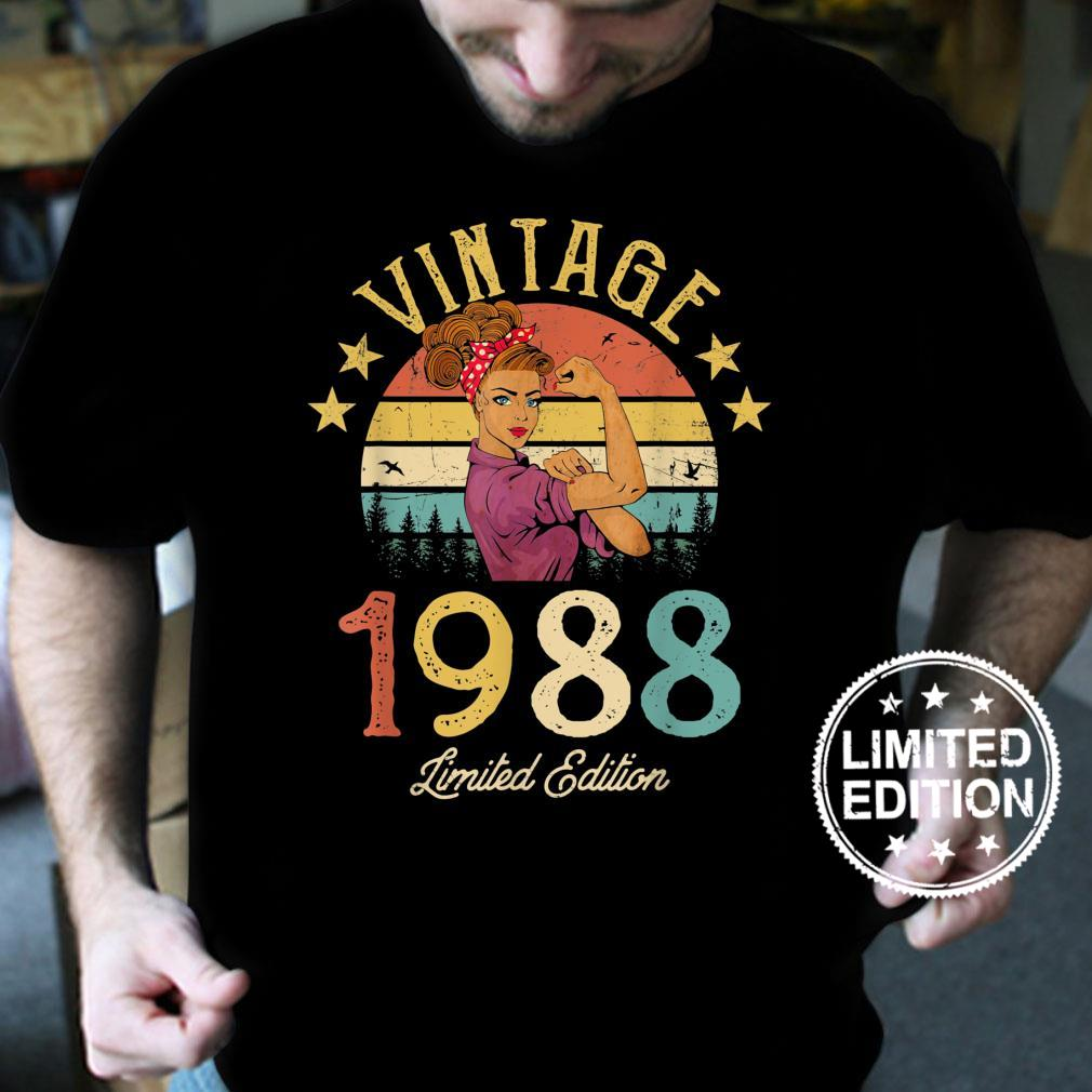 Vintage 1988 Made In 1988 33rd Birthday Shirt 33 Years Old Shirt